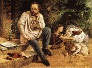 Gustave Courbet Pierre-joseph Prud'hon and His Children oil on canvas