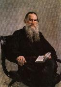 Ilya Repin Portrait of Leo Tolstoy oil