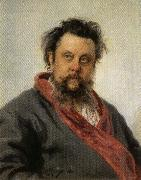 Ilya Repin Portrait of Modest Mussorgsky oil