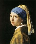 Jan Vermeer Head of a Young Woman painting