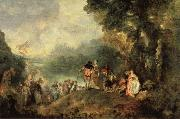 Jean-Antoine Watteau Embarkation from Cythera oil painting reproduction