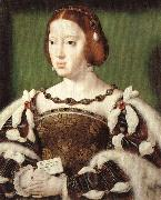 Joos van cleve Portrait of Eleonora, Queen of France oil on canvas
