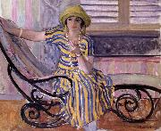Lebasque, Henri La Cigarette oil on canvas