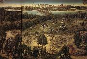 Lucas Cranach The Stag Hunt oil on canvas