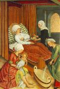 MASTER of the Pfullendorf Altar The Birth of Mary oil on canvas