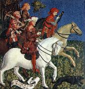 MASTER of the Polling Panels Prince Tassilo Rides to Hunting oil on canvas