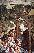 MASTER of the Polling Panels Adoration of the Child oil on canvas