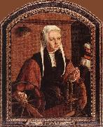 Maerten van heemskerck Portrait of Anna Codde oil on canvas