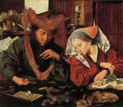 Marinus van Reymerswaele A Moneychangr and His Wife oil