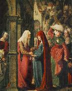 Marx Reichlich Meeting of Mary and Elisabeth oil