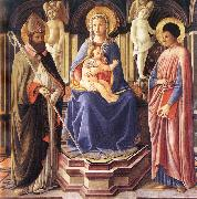 Master of The Castello Nativity Madonna and Sts Clement and Just oil on canvas
