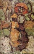 Maurice Prendergast Details of Central Park oil painting