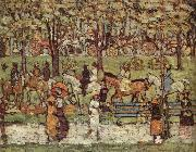 Maurice Prendergast Central Park oil painting