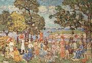 Maurice Prendergast The Promenade oil painting