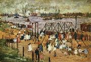 Maurice Prendergast The East River oil painting