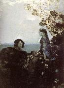 Mikhail Vrubel Hamlet and Ophelia painting