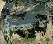 Mikhail Vrubel Italy.A.Night in Naples oil painting reproduction