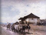 Nicolae Grigorescu Ox Cart at Oratii oil painting reproduction