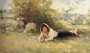 Nicolae Grigorescu Shepherdess oil painting reproduction
