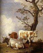 POTTER, Paulus Four Bull oil painting reproduction