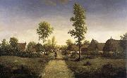 Pierre etienne theodore rousseau The village of becquigny oil