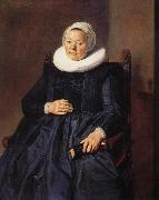 RIJCKHALS, Frans Portrait of a woman oil