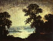 Ralph Blakelock Moonlight Indian Encampment oil
