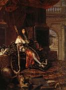 Testelin,Henri Louis XIV,protecteur de I'Academie Royale oil on canvas