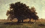 Theodore Roussel Oak Trees near Apremont oil