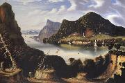 Thomas Chambers View of Cold Spring and Mount Taurus about 1850 oil on canvas
