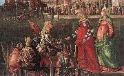Vittore Carpaccio Meeting of the Betrothed Couple (detail) oil painting
