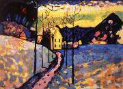Wassily Kandinsky Winter oil painting artist