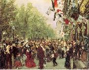Adolph von Menzel William I Departs for the Front, July 31, 1870 oil on canvas