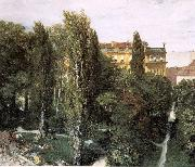 Adolph von Menzel The Palace Garden of Prince Albert oil on canvas