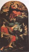 Annibale Carracci The VIrgin Appearing to ST Luke and ST Catherine (mk05) oil painting reproduction