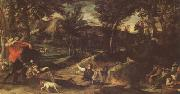 Annibale Carracci Hunting (mk05) painting