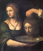 Bernadino Luini Salome Receiving the Head of John the Baptist (mk05) oil on canvas