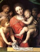 Bernadino Luini The Virgin Carrying the Sleeping Child with Three Angels (mk05) oil on canvas