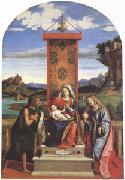 CARACCIOLO, Giovanni Battista The Virgin and Child between John the Baptist and Mary Magdalen (mk05) oil on canvas