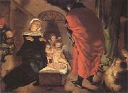 Claesz Aert The Nativity (mk05) oil on canvas