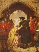 Edward Matthew Ward Sir Thomas More's Farewell to his Daughter oil on canvas
