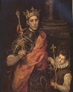 El Greco St Luis King of France with a Page (mk05) oil on canvas