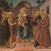 Francesco di Stefano called Pesellino The Virgin and Child Surrounded (mk05) oil on canvas