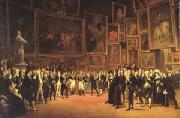 Francois-Joseph Heim Charles X Distributing Awards to the Artists Exhibiting at the Salon (mk05) oil on canvas