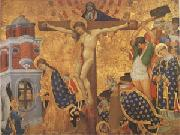 Henri Bellechose Christ on the Cross with the Martyrdom (mk05) oil painting reproduction