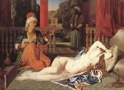 Jean Auguste Dominique Ingres Oadlisque with Female Slave (mk04) painting