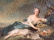 Jean Marc Nattier Henrietta of France as Flora painting