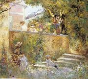 Lebasque, Henri Nono and Marthe in the Garden with Madame Lebasque oil on canvas