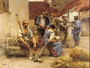 Lhermitte, Leon Harvesters' Country painting