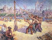 Luce, Maximilien The Pile Drivers oil on canvas